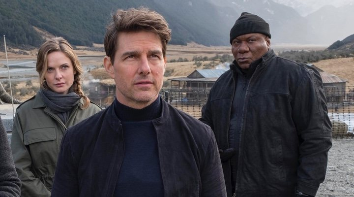 Rebecca Ferguson, Tom Cruise y Ving Rhames en 'Misión Imposible: Fallout' (2018)