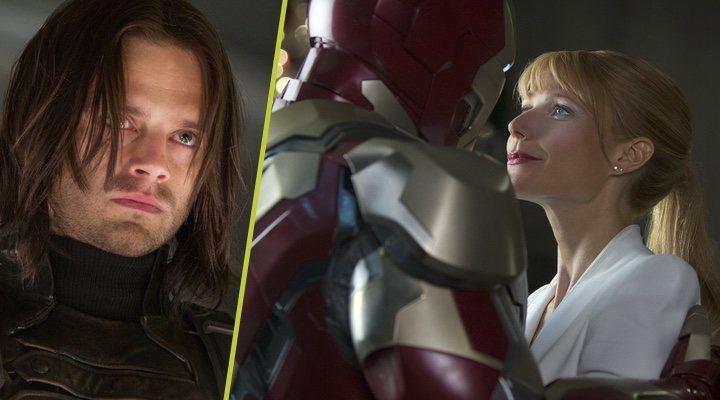Sebastian Stan como el Soldado de Invierno y Gwyneth Paltrow en 'Iron Man'