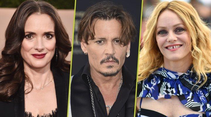 Winona Ryder, Johnny Depp y Vanessa Paradis