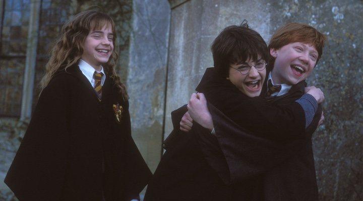 Emma Watson, Daniel Radcliffe y Rupert Grint en 'Harry Potter'