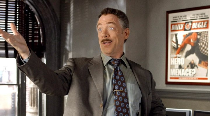 J.K. Simmons en 'Spider-Man' de Sam Raimi