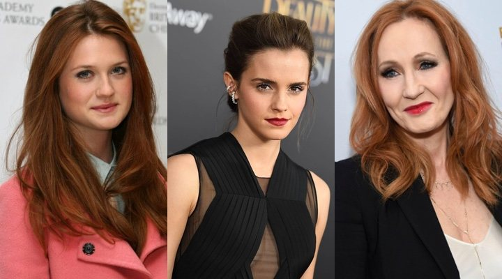 Emma Watson, Bonnie Wright y J.K. Rowling
