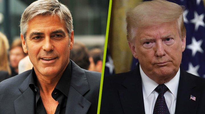 George Clooney y Donald Trump