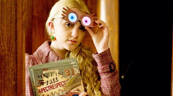 Evanna Lynch como Luna Lovegood en 'Harry Potter'