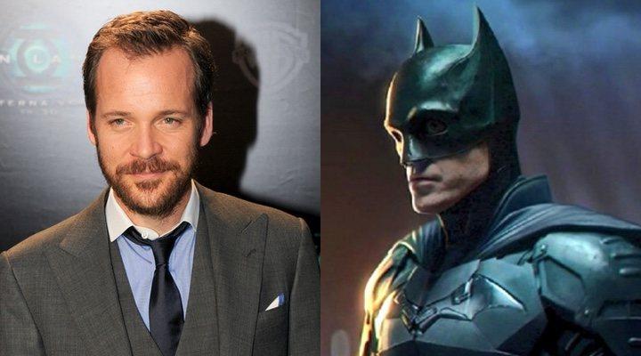 Peter Sarsgaard y Robert Pattinson en 'The Batman'