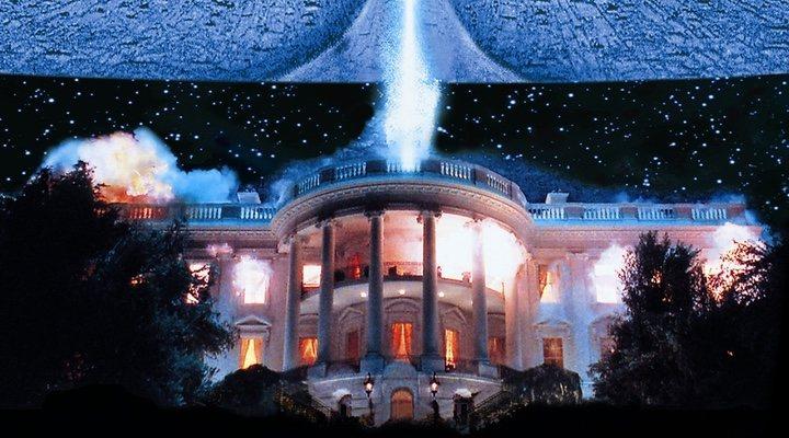 Imagen de la destrucción de la Casa Blanca en 'Independence Day' (1996)
