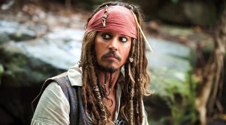 Johnny Depp en 'Piratas del Caribe'