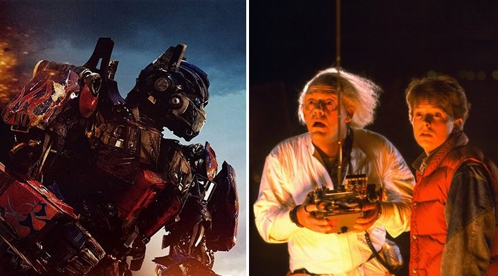 'Regreso al futuro' y 'Transformers'
