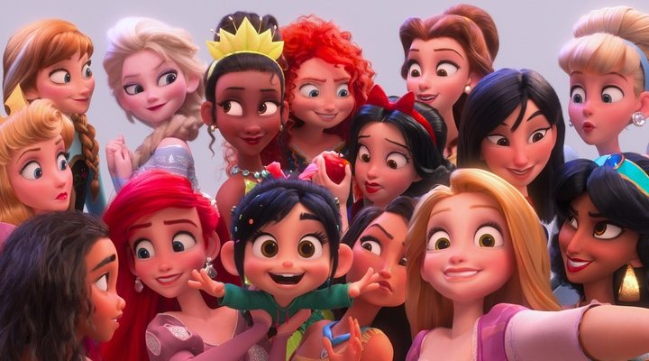 Todas las princesas Disney en 'Ralph Rompe Internet' (2018)