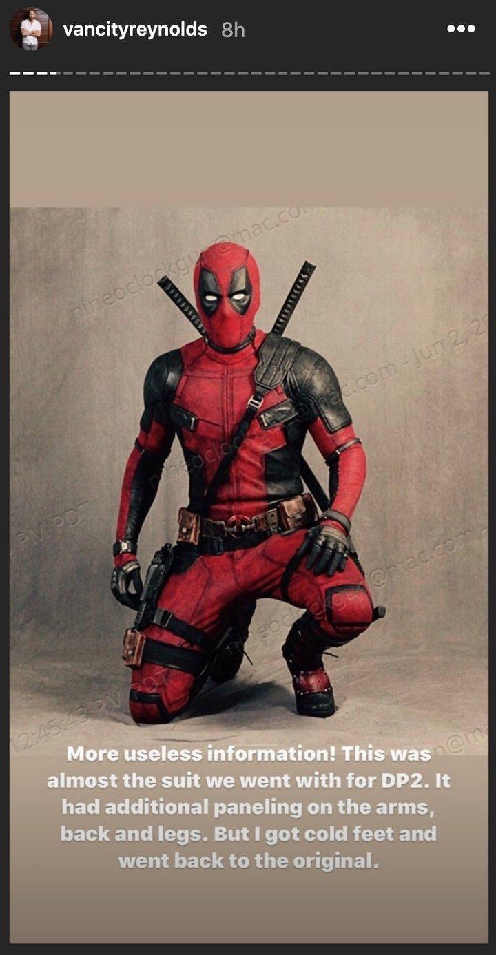 Traje descartado de Deadpool para 'Deadpool 2' (2018)