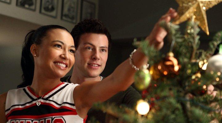 Cory Monteith y Naya Rivera en 'Glee'
