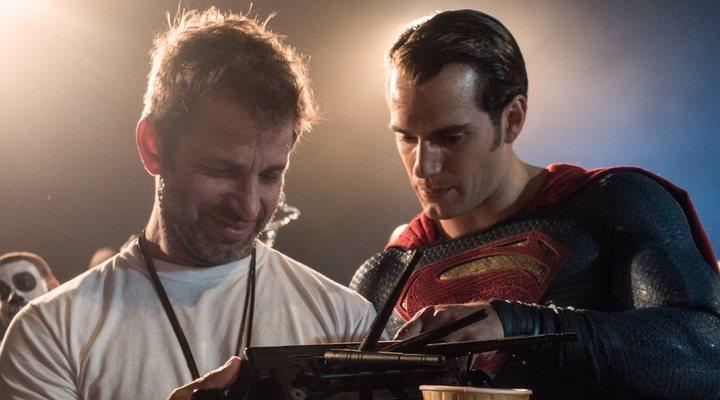 Zack Snyder y Henry Cavill en 'Liga de la Justicia'