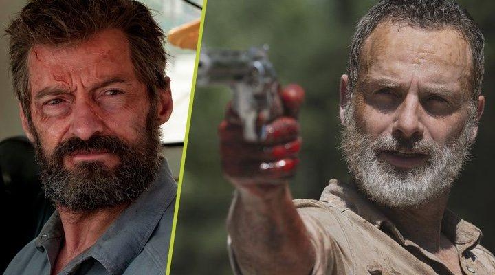 Hugh Jackman en 'Logan y Andrew Lincoln en 'The Walking Dead'