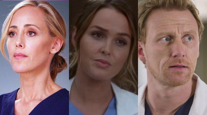 Kim Raver, Camilla Luddington y Kevin McKidd en 'Anatomía de Grey'
