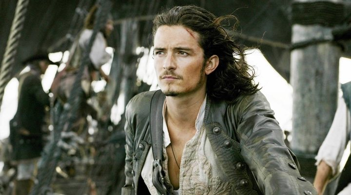 Orlando Bloom en 'Piratas del Caribe'
