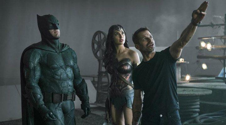 Zack Snyder en el rodaje de 'Liga de la justicia'