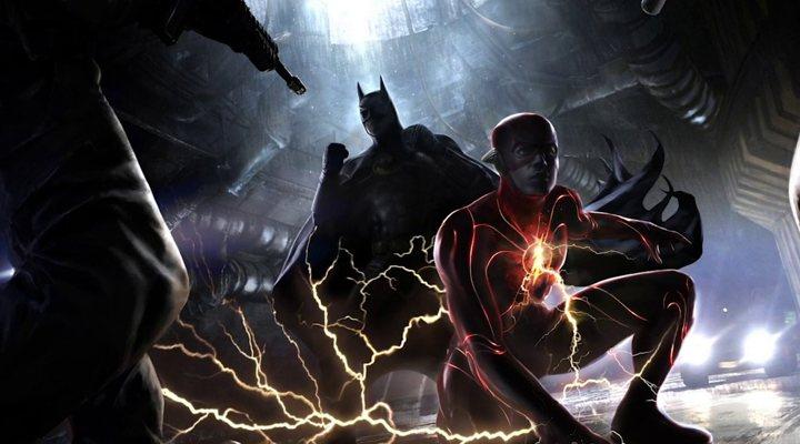 Arte conceptual de 'The Flash' con el Batman de Michael Keaton