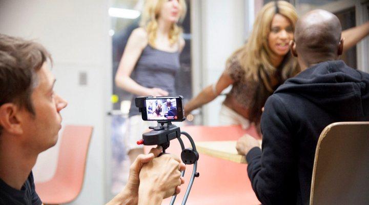 Sean Baker rodando 'Tangerine'