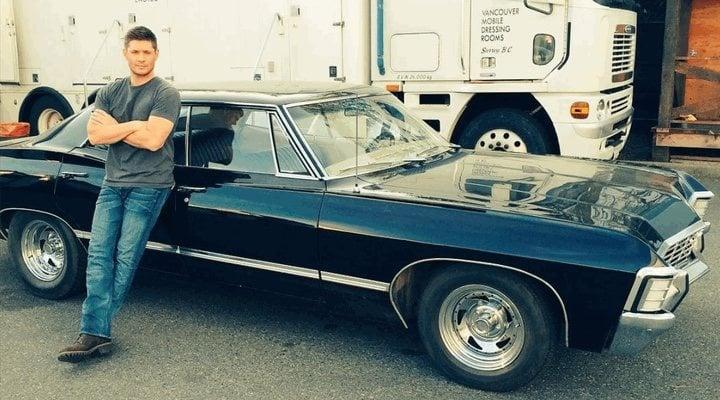 Jensen Ackles y el Impala de 'Sobrenatural'