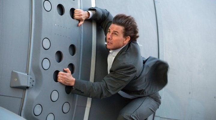 Tom Cruise en una impresionante escena de acción de 'Misión imposible'