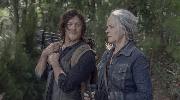 Norman Reedus y Melissa McBride en 'The Walking Dead'