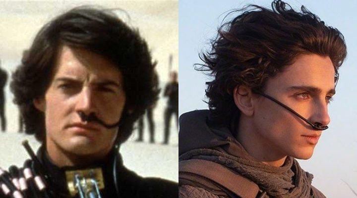 Kyle MacLachlan y Timothée Chalamet en 'Dune'