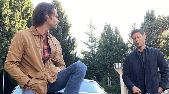 Jared Padalecki y Jensen Ackles en el último día de rodaje de 'Sobrenatural'