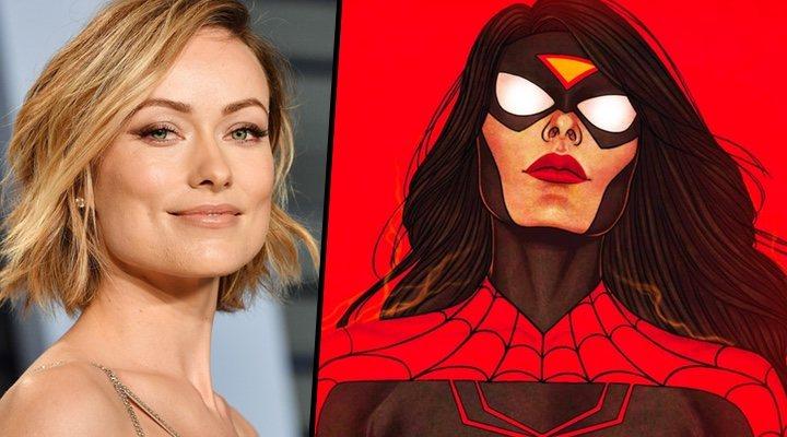 Olivia Wilde junto a Spider-woman, película que dirigiría para Sony