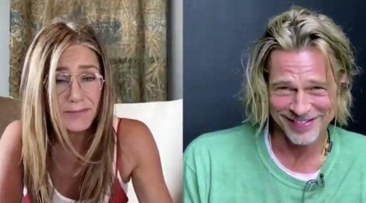 Jennifer Aniston y Brad Pitt en la lectura de guion benéfica de 'Aquel excitante curso'