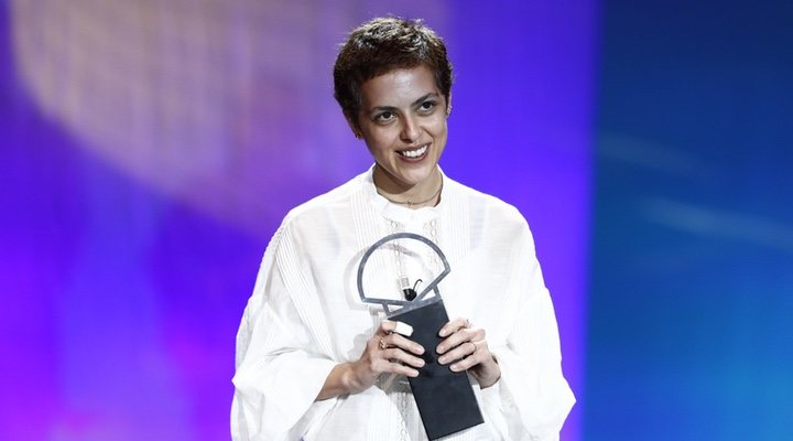 Dea Kulumbegashvili en el festival de cine de San Sebastian