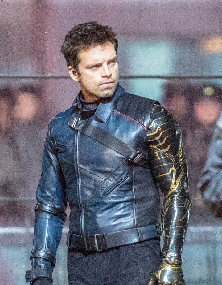 Sebastian Stan en el rodaje de 'The Falcon and the Winter Soldier'