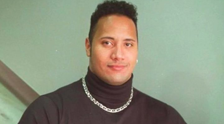 El joven Dwayne Johnson