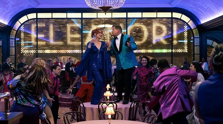 Meryl Streep y James Corden en 'The Prom'