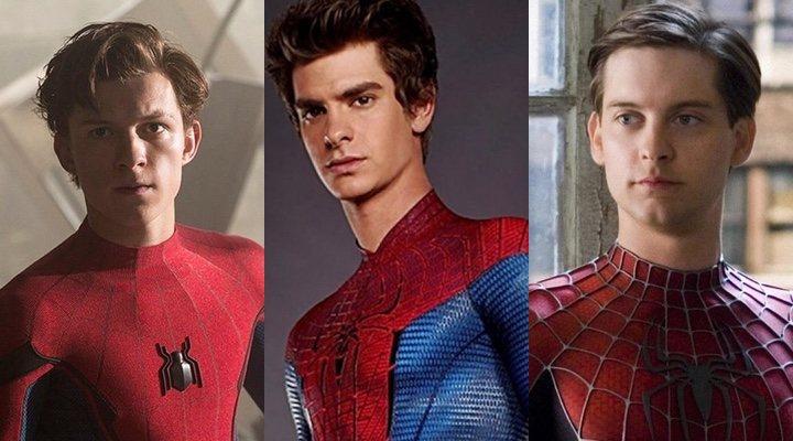 Los Spider-Man de Tom Holland, Tobey Maguire y Andrew Garfield