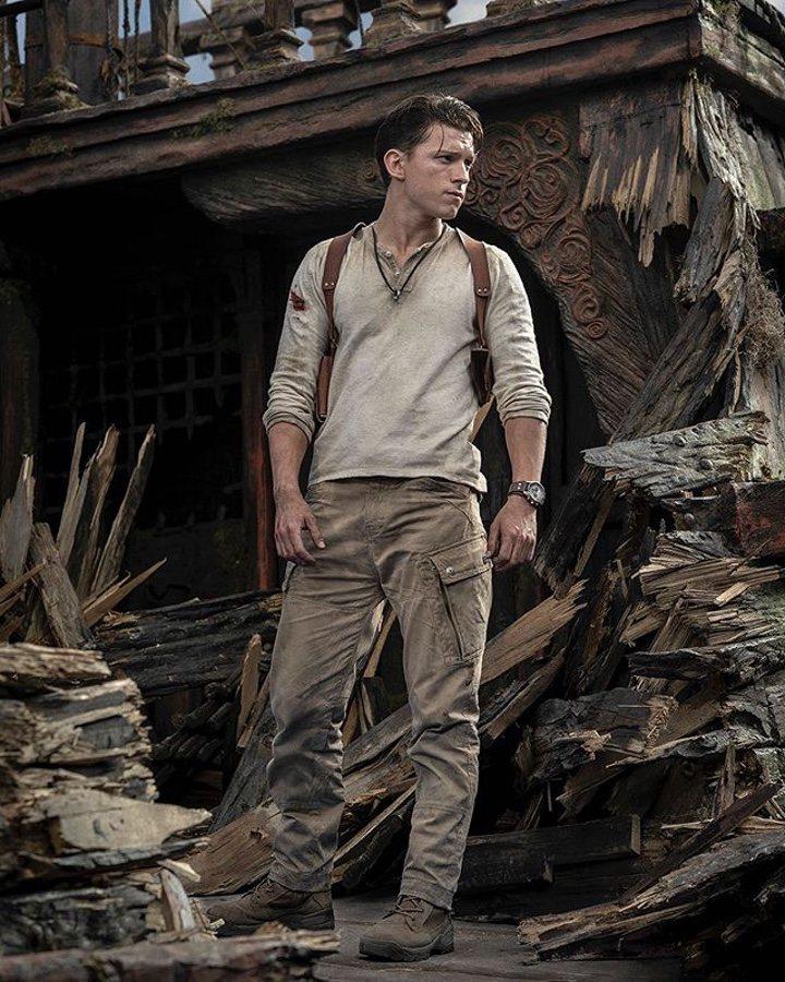 Tom Holland como Nathan Drake en 'Uncharted'