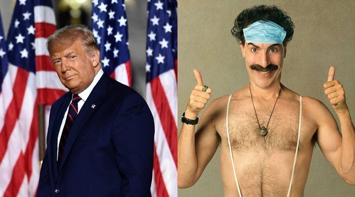 Donald Trump y Sacha Baron Cohen como Borat