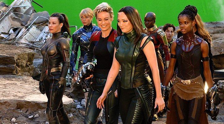 Los personajes femeninos de Marvel en el rodaje de 'Vengadores: Endgame'