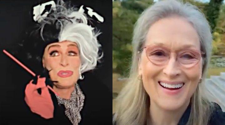 Glenn Close y Meryl Streep en la reunión de 'El retorno de las brujas'