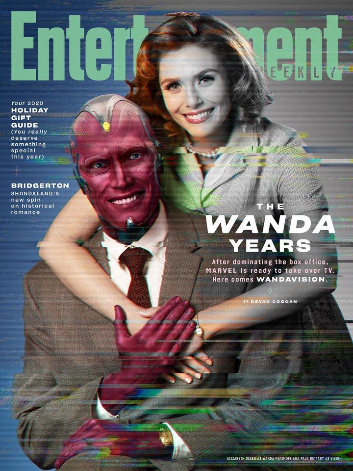 Paul Bettany y Elizabeth Olsen en 'Bruja Escarlata y Visión'