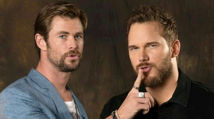 Chris Pratt y Chris Hemsworth