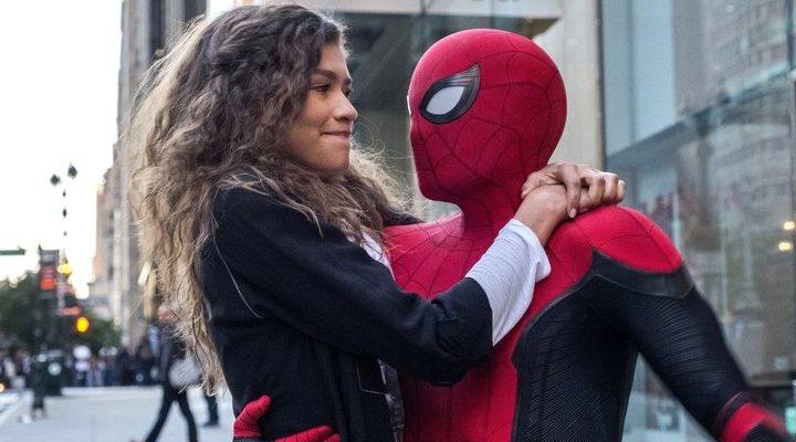 Spider-Man junto a MJ en el rodaje de 'Spider-Man 3'