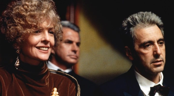 Diane Keaton y Al Pacino en 'El Padrino: Epílogo'