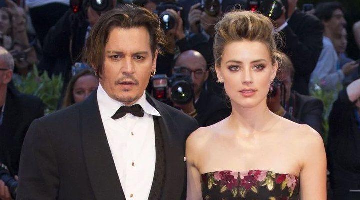 'Johnny Depp con su ex mujer Amber Heard'