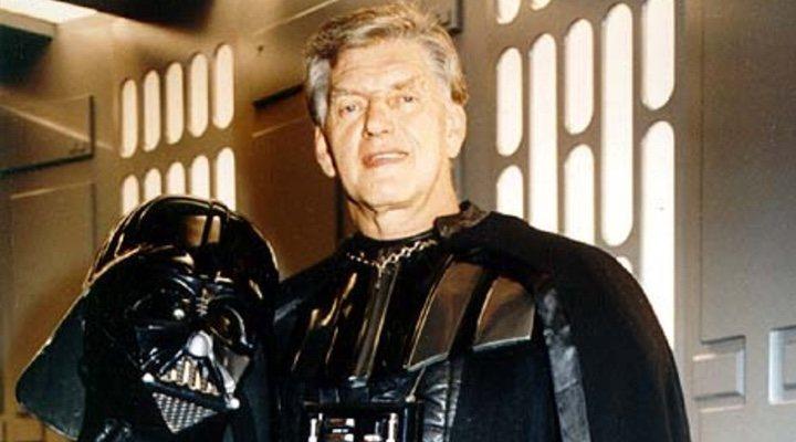 David Prowse en el rodaje de 'Star Wars'