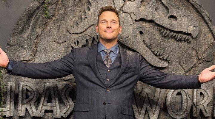 'Chris Pratt presentando en Madrid Jurassic World: El reino caído'