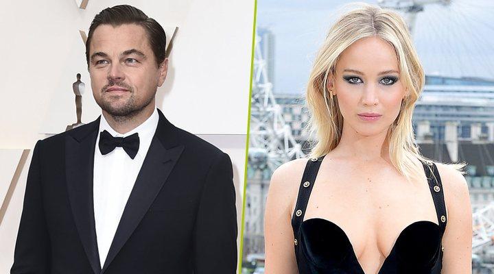 Jennifer Lawrence y Leonardo DiCaprio