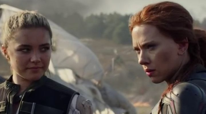 'Florence Pugh y Scarlett Johansson en Viuda Negra'