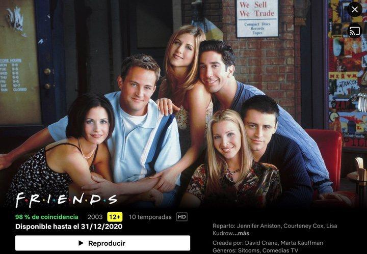 'Friends' en Netflix España