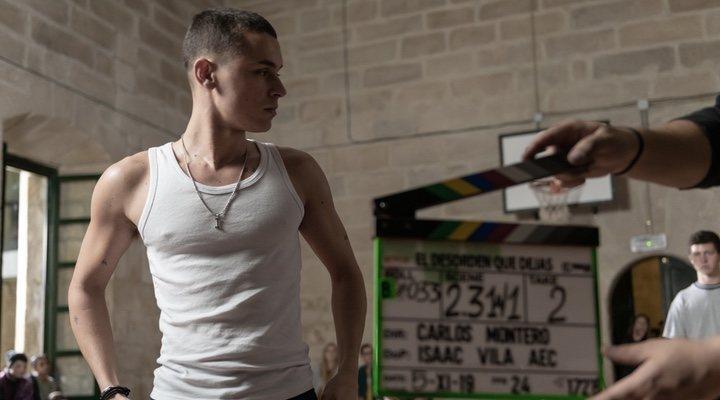 Arón Piper en el rodaje de 'El desorden que dejas'
