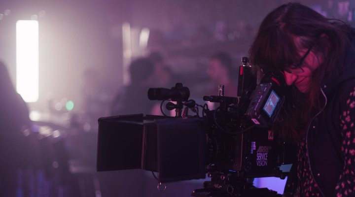 Isabel Coixet rodando 'Nieva en Benidorm'